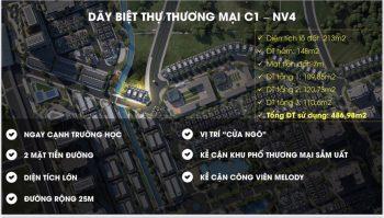 Biệt thự thương mại xây hầm C1-NV4 An Lạc Green Symphony Vân Canh, Hoài Đức