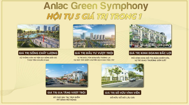 Lợi thế Shophouse thương mại 80m2 An Lạc Green Symphony